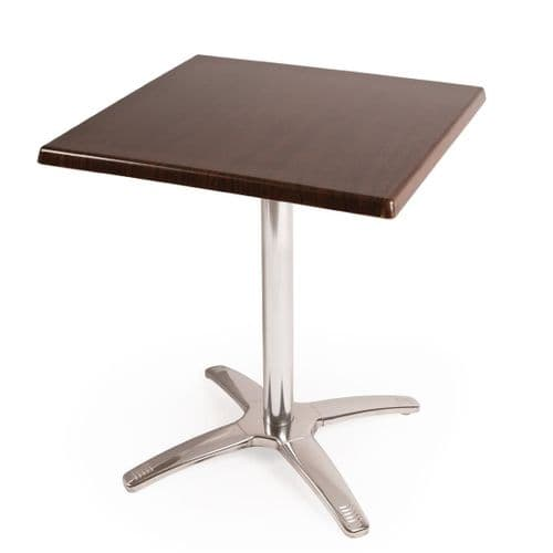 Special Offer Bolero Square Dark Brown Table Top and Base Combo